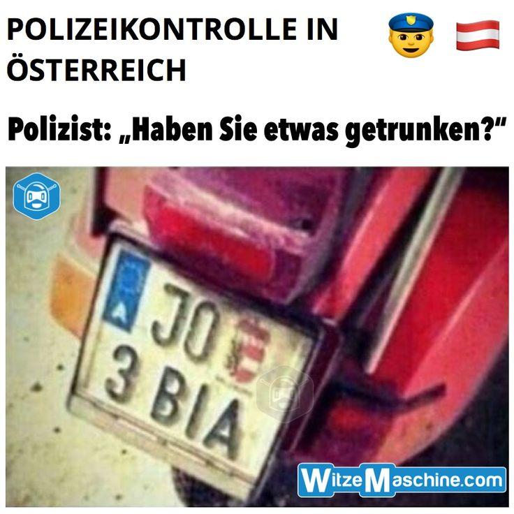 Lustige Polizeikontrolle in Österreich - Bier trinken - Österreicher Witze
