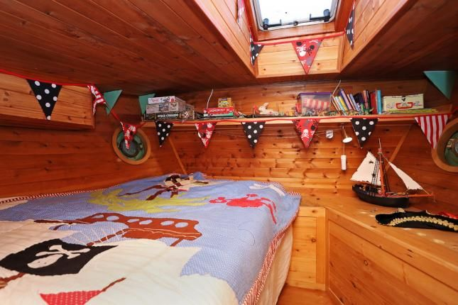 Bedroom on an old Dutch barge