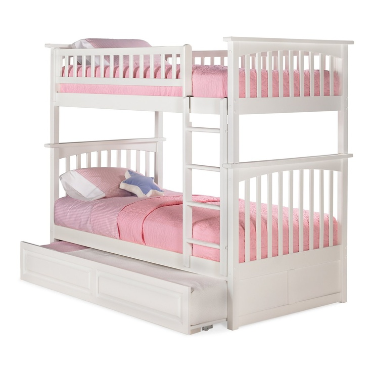 Atlantic Furniture AB55 Columbia Bunk Bed with Trundle - ATG Stores
