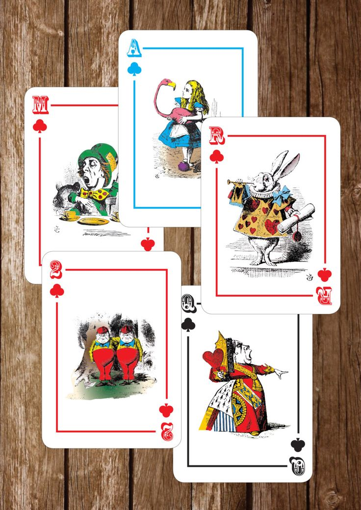 The Playing Cards Alice In Wonderland