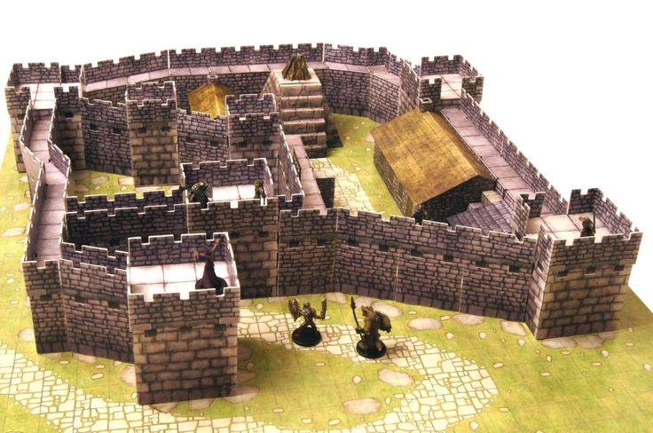 The Watchfire Keep, created with Castle Kit 1 from Lone Tree Games minis miniatures resource tool how to tutorial instructions   Create your own roleplaying game material w/ RPG Bard: www.rpgbard.com   Writing inspiration for Dungeons and Dragons DND D&D Pathfinder PFRPG Warhammer 40k Star Wars Shadowrun Call of Cthulhu Lord of the Rings LoTR + d20 fantasy science fiction scifi horror design   Not Trusty Sword art: click artwork for source