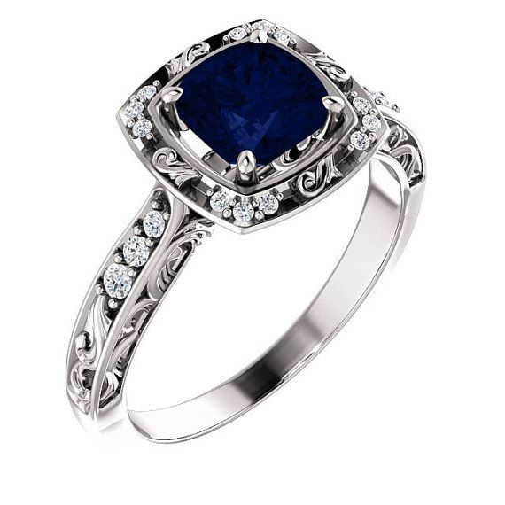 Vintage Sapphire Ring Antique Sapphire Ring by cldiamonds on Etsy