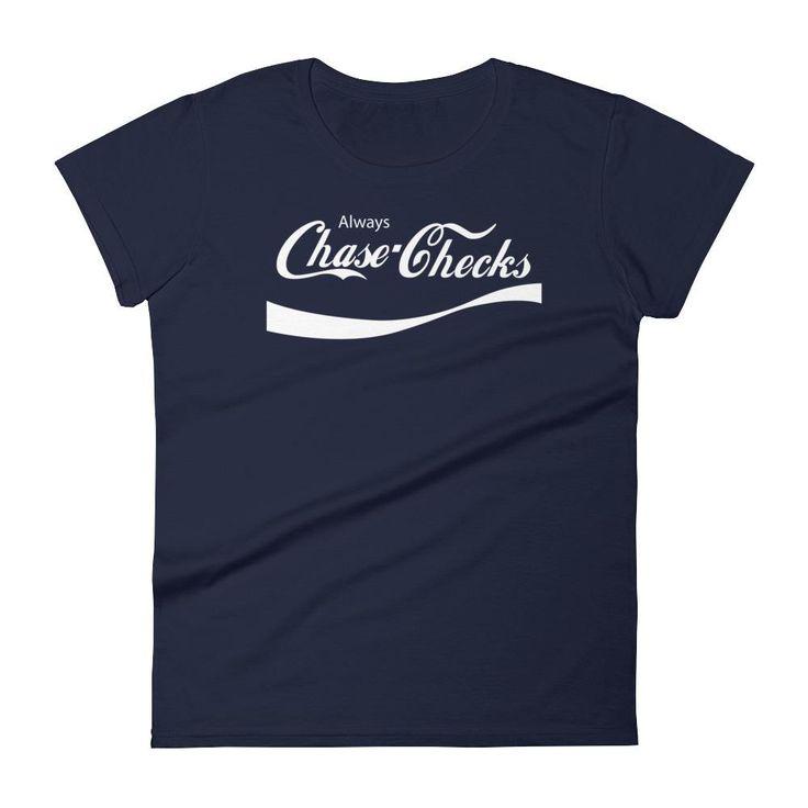 White | Chase Checks Tee | Front Print (Q)
