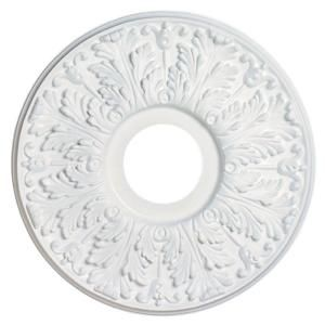 Westinghouse 16 in. Victorian White Ceiling Medallion-7702800 at The Home Depot