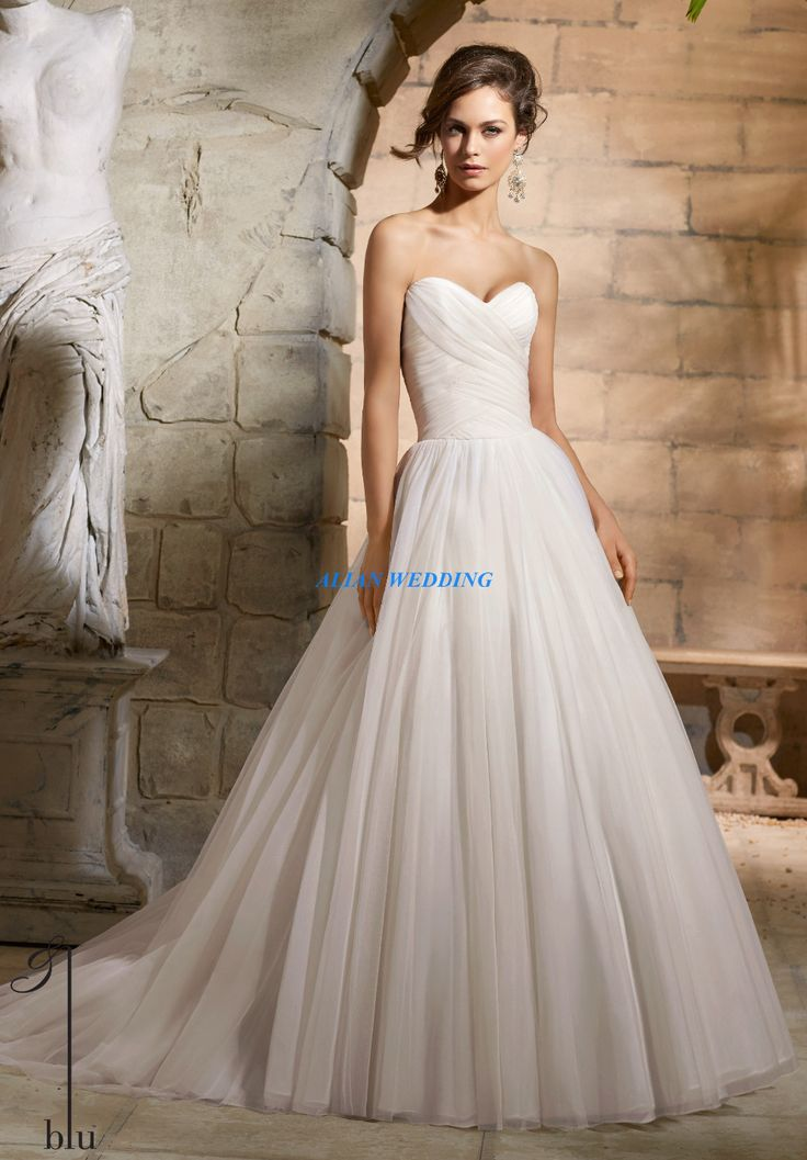 Lovely Hot Sale Cheap Simple Wedding Dresses China Vestidos De Novia Sweetheart Pleat Bridal Gowns Floor Length