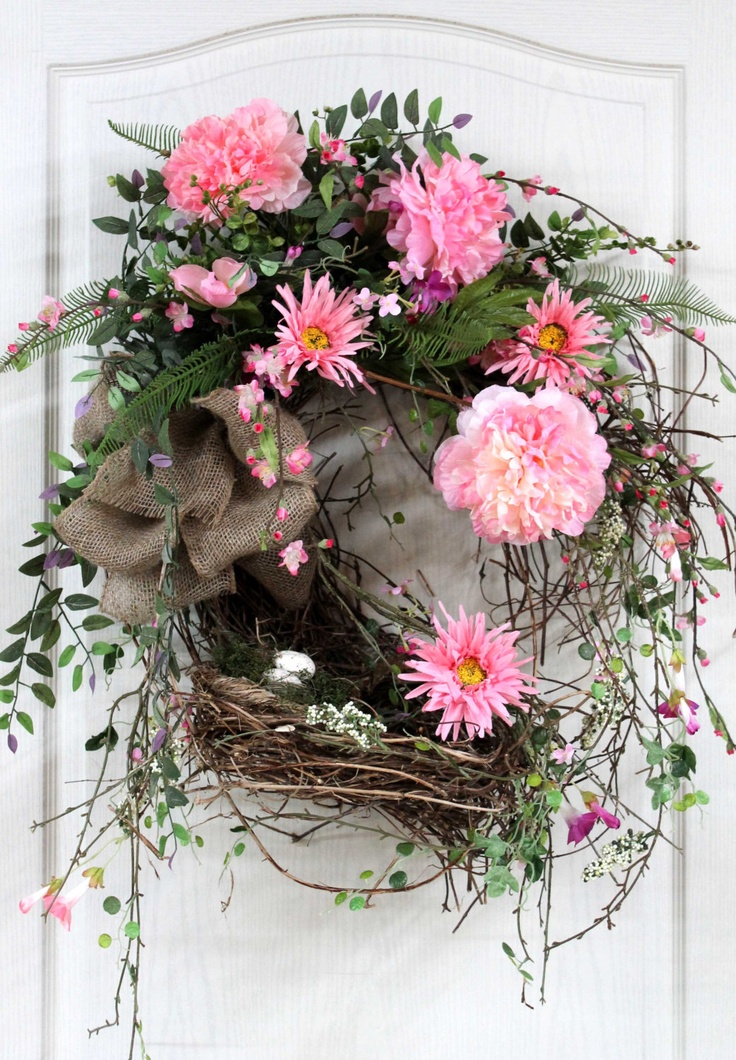 13 Best Images About Spring Door Swags On Pinterest Front Doors Summer Wreath And Deco Mesh