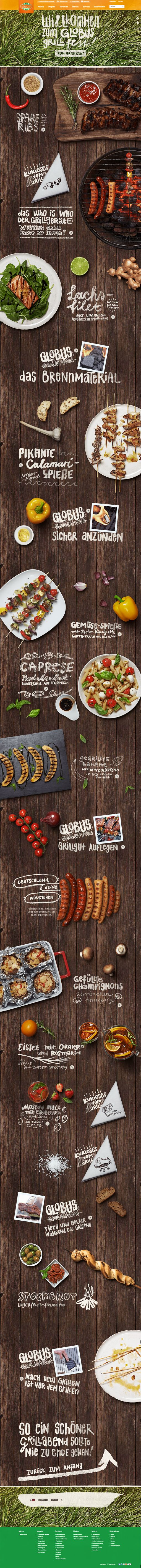 The Globus Grillfest by Kathrin Schmitz, via Behance | #webdesign #it #web #design #layout #userinterface #website #webdesign < repinned by www.BlickeDeeler.de | Take a look at www.WebsiteDesign-Hamburg.de