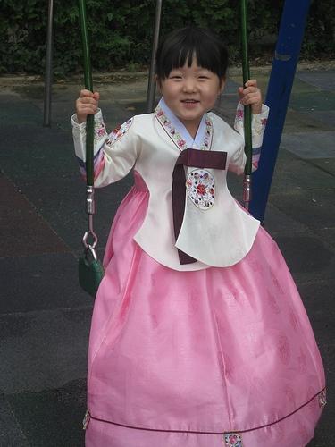 Children dressed up in hanbok