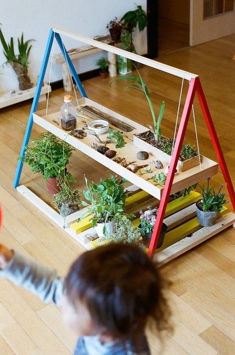 indoor kids plant / garden workbench