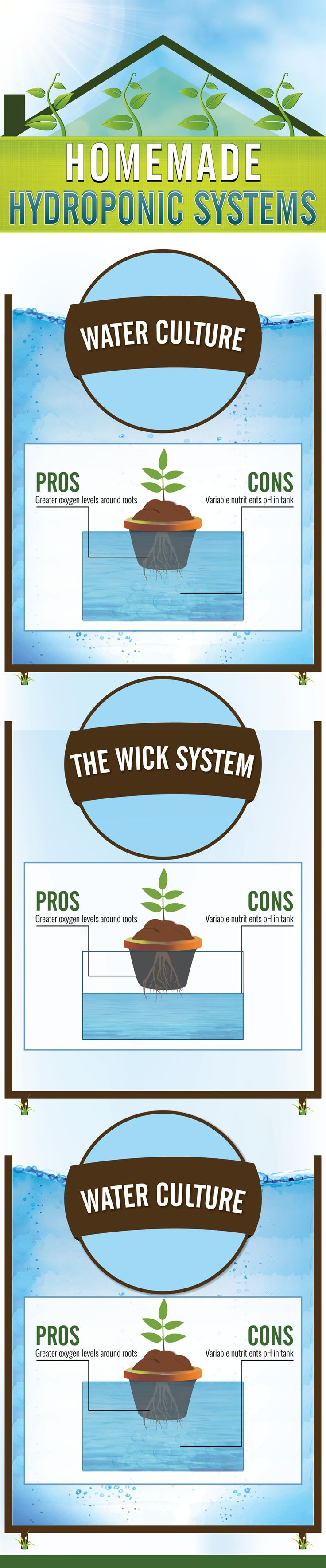 A great DIY hydroponics guide, please read more over at: http://gardenandseeds.co.uk/homemade-hydroponic-systems/ #hydroponics