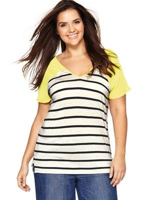 Chiffon Sleeve Stripe Jersey Top (Available in sizes 14-28), http://www.isme.com/so-fabulous-chiffon-sleeve-stripe-jersey-top-available-in-sizes-14-28/1336601964.prd