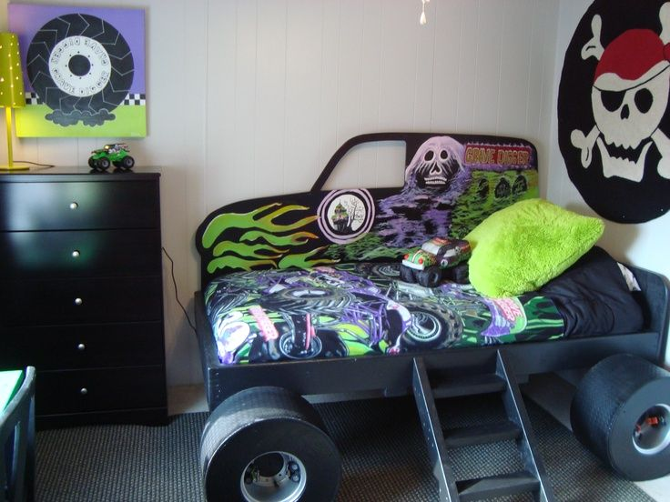 monster truck boys room | Monster Truck (Grave Digger) bed (from Gabriel's Special Spaces Tri ...