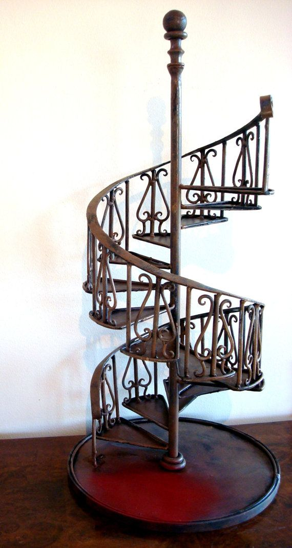 Vintage Miniature Architectural Model For A Spiral Staircase Reserved Dee