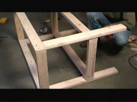 How to build a garage work bench