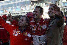 (L to R): Jean Todt (FRA) Ferrari Sporting Director, Michael Schumacher (GER) Ferrari and Luca di Montezemolo (ITA) Ferrari Chairman. Ferrari World Finals 2006, Monza, Italy, 29 October 2006.
