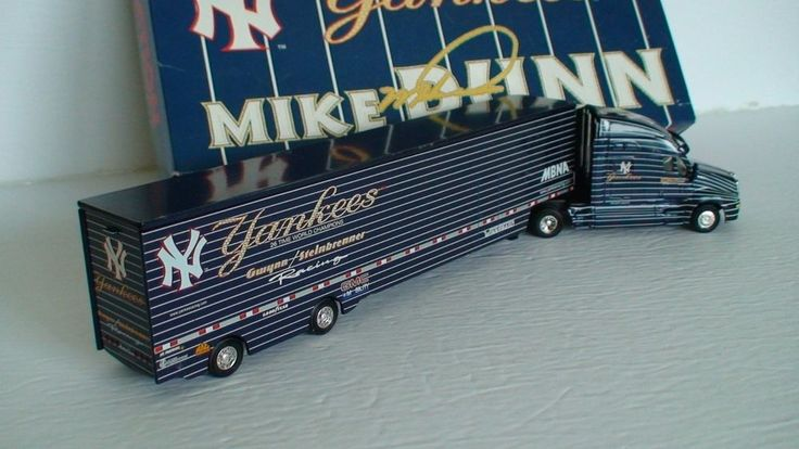 ACTION 2001 NY YANKEES MIKE DUNN NHRA 1/64 TOP FUEL DRAGSTER HAULER  #Action