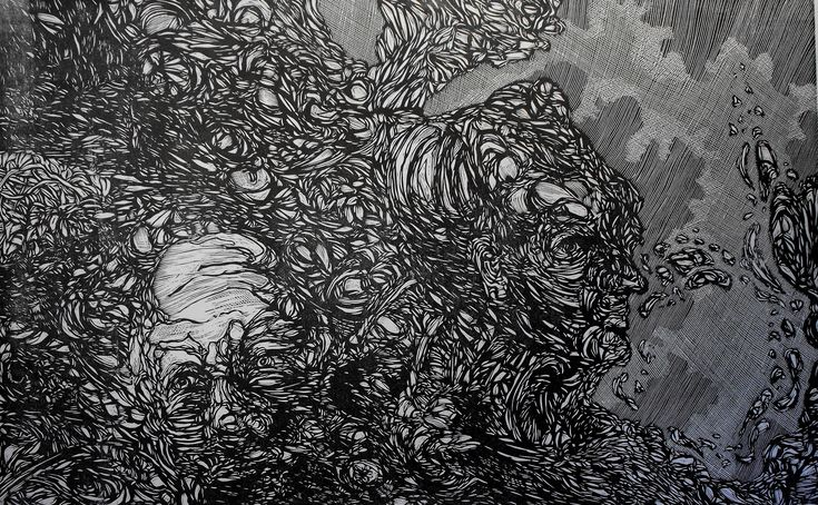 Xilografía 80 X 60 cm.