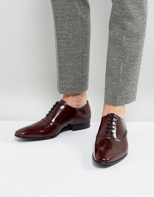Just look at the way these oxford shoes  shine! | PS by Paul Smith Starling High Shine Oxford Shoes in Oxblood | Wedding Oxfords | Men's Dress Shoes | Men's wedding Fashion | Wedding Shoes | Formal Dress Shoes | Groom's Attire | Suit Accessories