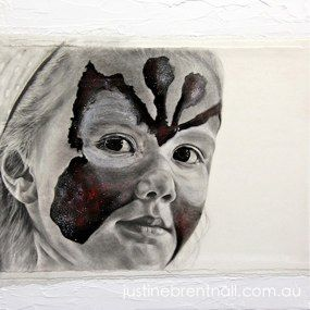 'You Can't See Me 2' Graphite and Acrylic on canvas