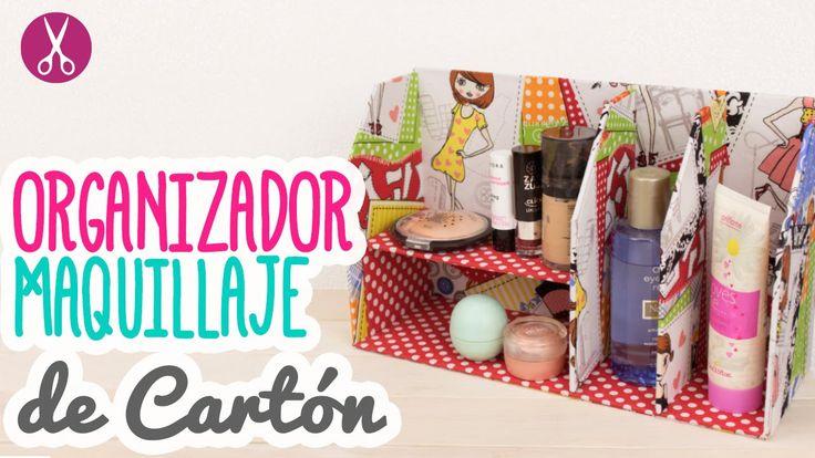 Organizador de Maquillaje con Cartón - Paso a Paso - Cartonaje | Catwalk
