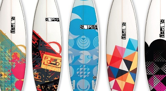 Tony Larson surfboards art
