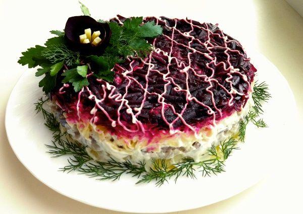 """Салат """"Селедка под шубой"""" рецепты простые и вкусные"""