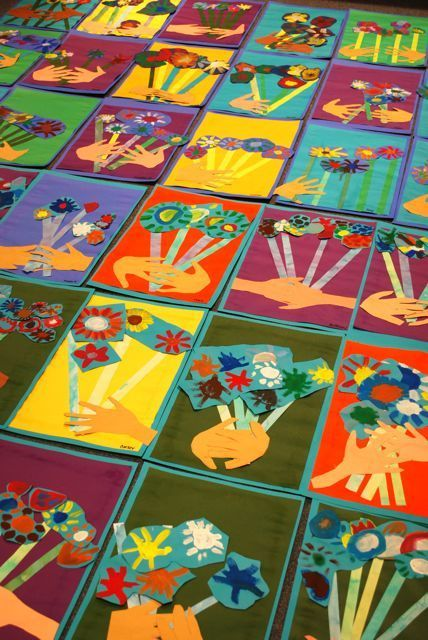 Picasso's flower bouquet art lesson - a great spring project!