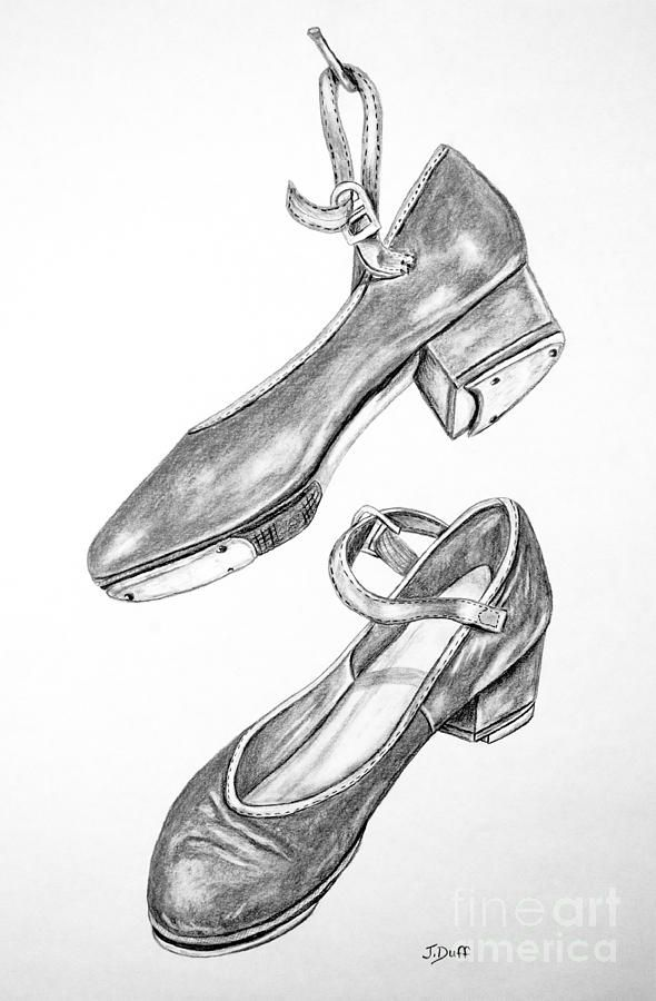 Jazz shoes drawing