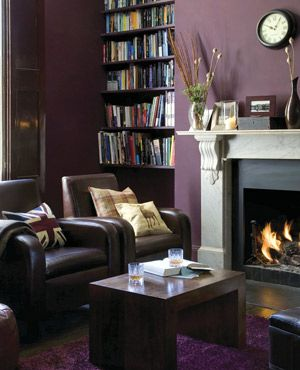 25 best ideas about dark purple walls on pinterest dark Purple brown living room