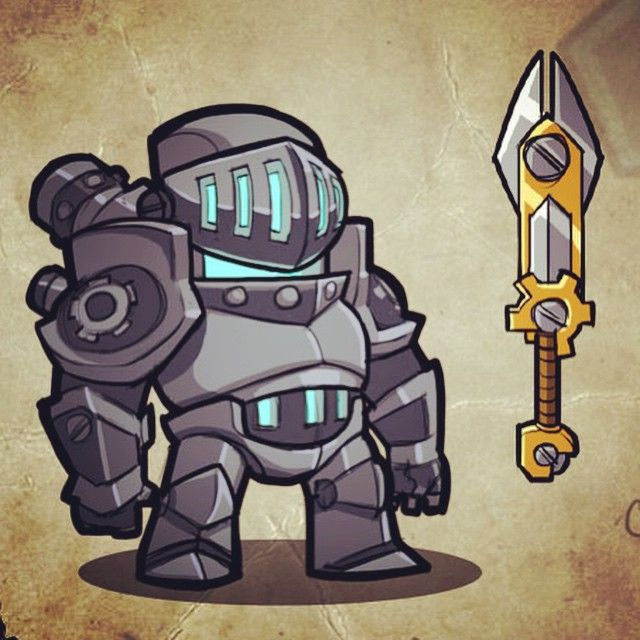 Chibi Knight! #gamedev #photoshop #cintiq