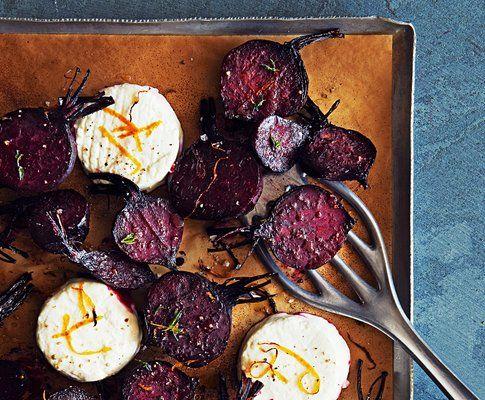 Barbabietole al forno con caprino e miele di fiori d'arancio  | Saison