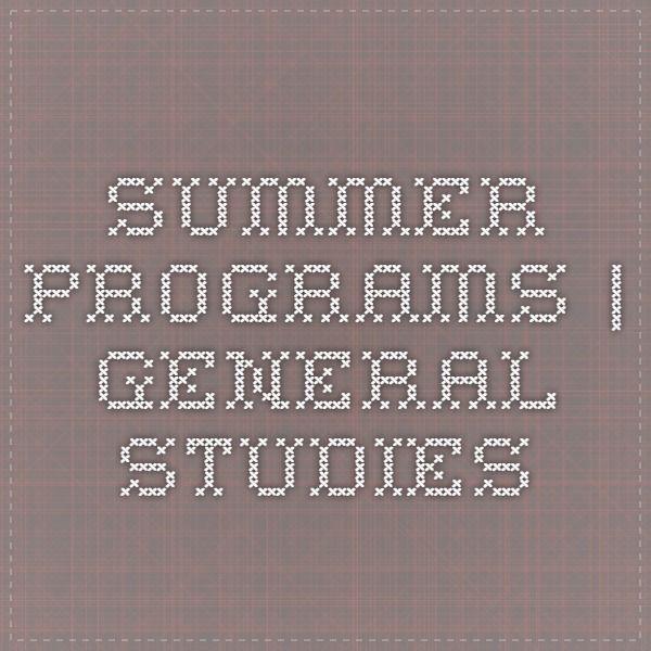 Summer Programs   General Studies on Columbia University's Website