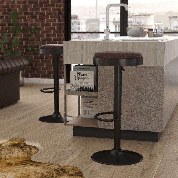 You Ll Love The Gillham Adjustable Height Swivel Bar Stool At Wayfair Great Deals On All Furniture Products With Free Ship In 2020 Bar Stools Swivel Bar Stools Stool