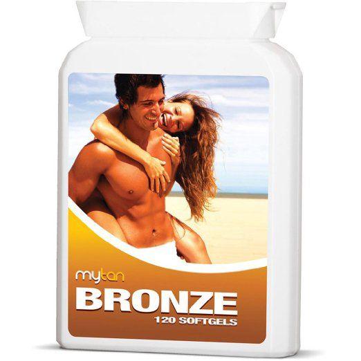 MyTan Bronze Tanning Pills, 120 Softgels, No Canthaxanthin Sunless Tanning Pill