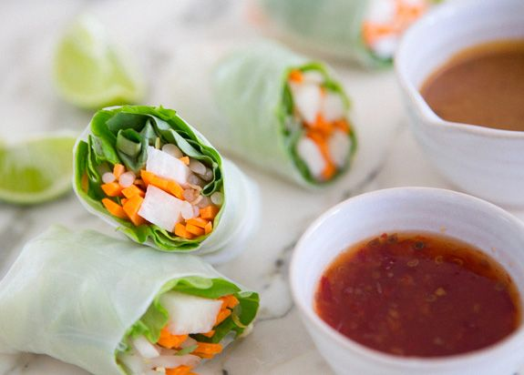 jicama spring rolls - a house in the hills