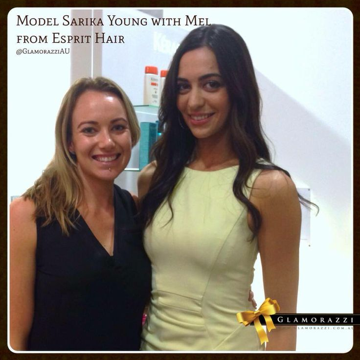 #Model Sarika Young - YLBC with #hairdresser Mel at Esprit Hair & Day Spa ! What a fun & pampering day for our #ambassador in #Melbourne today! — with Melissa Brown, Sarika Young - YLBC and Sarika Young.