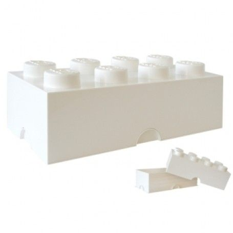 Geweldige grote Lego Opbergbox  - Brick 8  In 4 kleuren wit, zwart, geel en groen