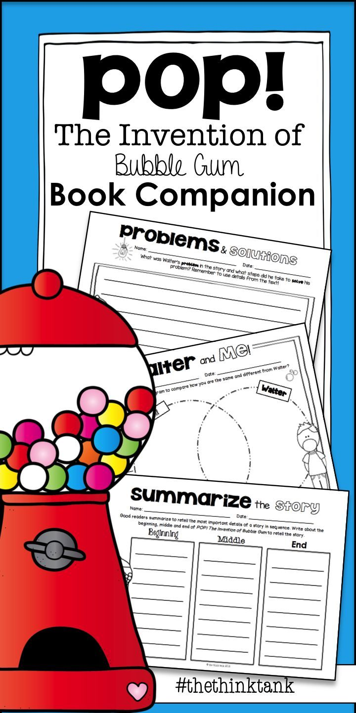 Pop The Invention Of Bubble Gum Reading Comprehension Companion Reading Comprehension Math Connections Reading Comprehension Skills [ 1443 x 720 Pixel ]