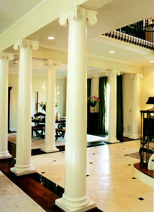 Interior Foyer Columns : Best william e poole houses images on pinterest