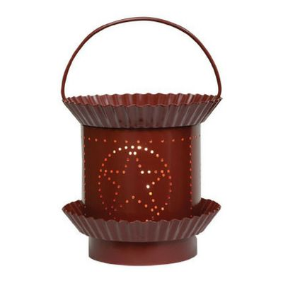 Burgundy Star Electric Tart Warmer - Our Burgundy Star Electric Tart Warmer has a painted sheet metal base with fluted pan details and a heavy gauge wire handle. You will love the glossy burgundy paint finish.