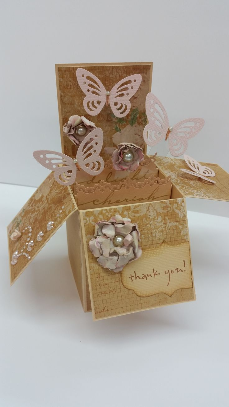 Pink Floral & Butterfly Box by Susan of Art Attic Studio