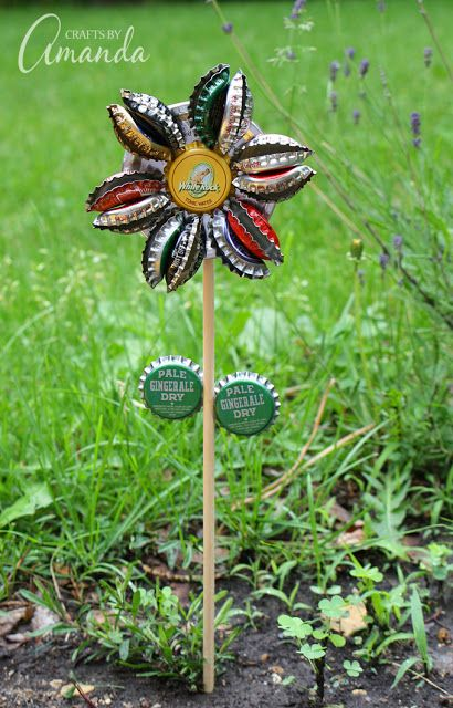 Turn your old tires, dishes, hubcaps and more into beautiful art for your yard or garden!