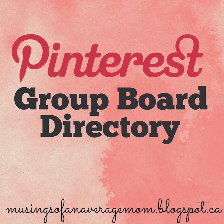 Pinterest Group Board Directory - add your own Pinterest group Board or find new group boards to join.
