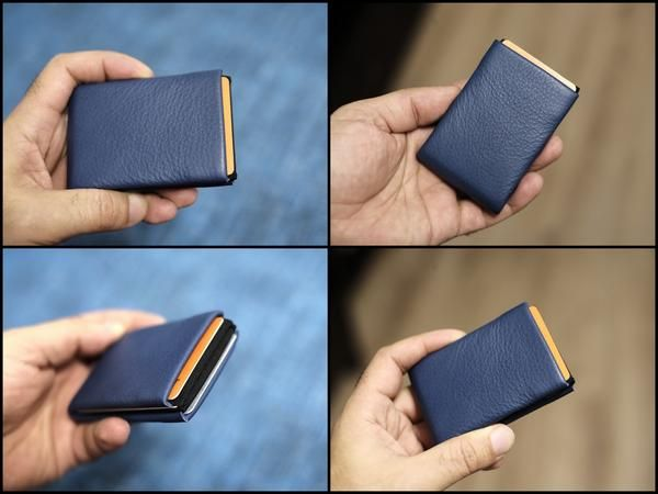 """Minimalist Wallets, RFID Blocking Wallets, NERO Leather Wallet - 4 RFID protected pockets for credit cards and 1 RFID pass   FREE Personalization for every leather wallet with your initials or maximum 4 characters. *** Please tell me your initials in the """"Notes to NeroWallet"""" box during checkout. ***  NERO™ Leather Minimalist Wallet Handmade with black elastic and 4 RFID protected pockets for credit cards and 1 RFID pass through pocket for your transport card. The NERO wallet has ..."""