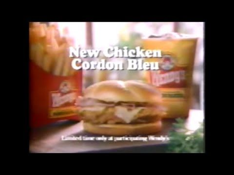 CoolWow 1990's Commercial | Wendy's Chicken Cordon Bleu featuring Dave Thomas #dinner  #lunch  #RecipeOfTheDay