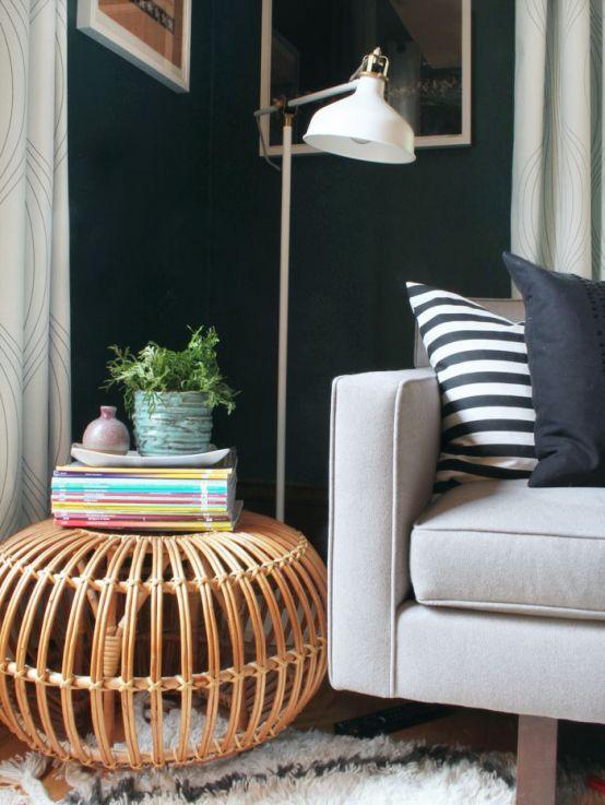 ikea 'ranarp' lamp in charming living room  floor lamps
