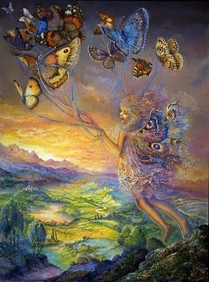 Fairies Up, Up and Away by Josephine Wall