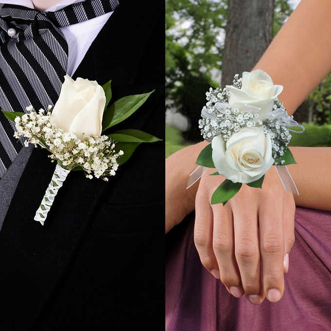 Boutonnieres & Wrist Corsages 16-pack