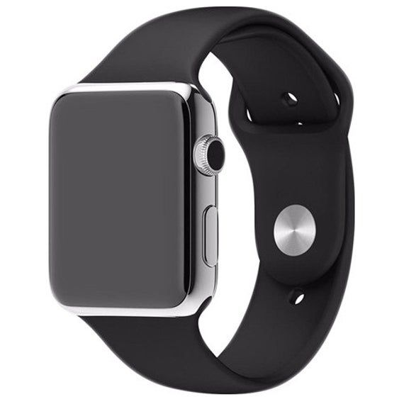 Silicone Rubber Watch Band Compatible With Apple Watch Series 1 2 3 4 And 5 38 40mm 42 44mm Apple Watch Silicone Band Apple Watch Apple Watch Models