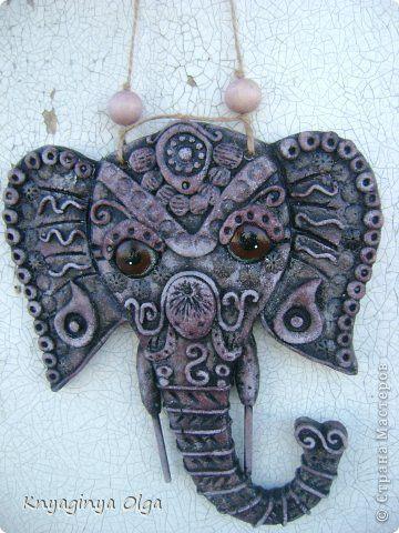 Поделка изделие Лепка Индийские слоны Тесто соленое фото 1
